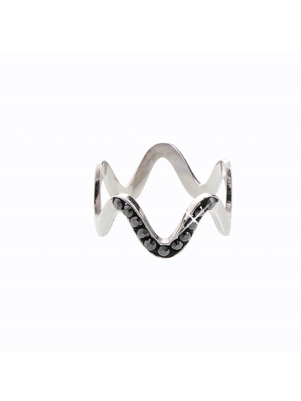 J92700101JET Stříbrný prsten Vlna I. Swarovski® components