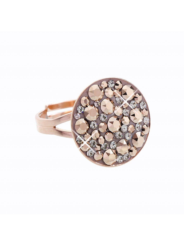 J92700111ROSAG Stříbrný prsten Swarovski® components Round VIII.