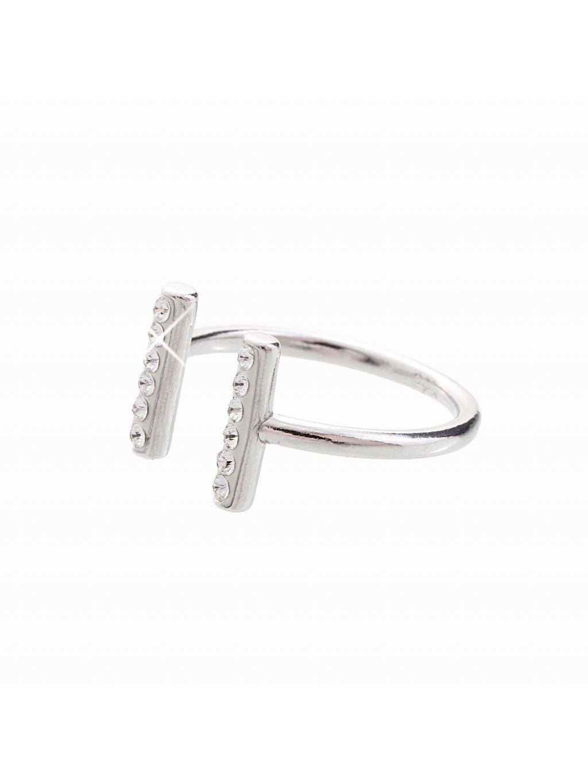 J92700120CR-RH Stříbrný prsten Swarovski® components Podkova