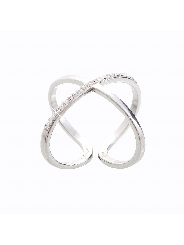 J92700121CR Stříbrný prsten Swarovski® components Atomium
