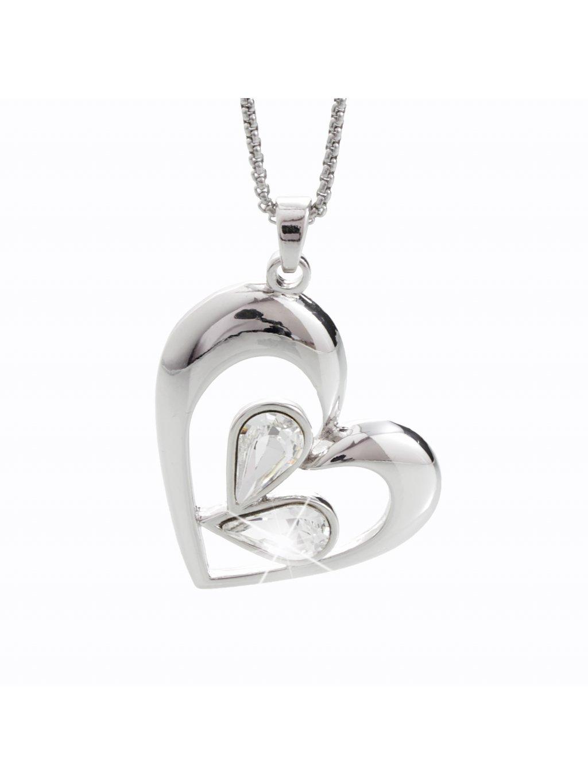 Náhrdelník Kapky v srdci s kameny Swarovski® Crystal
