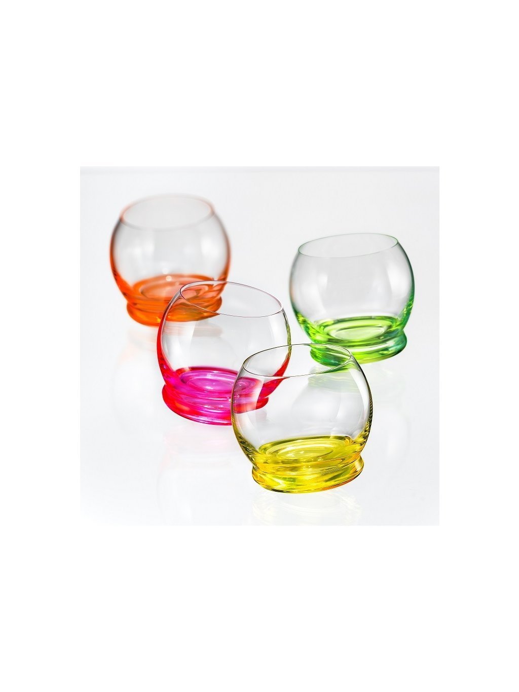Sklenice Crazy Neon Set 390ml 4ks