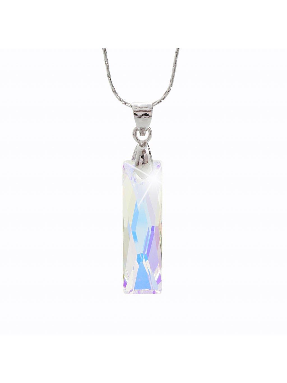 Náhrdelník Obdélník s kamenem Swarovski® Crystal AB