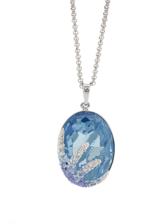 Náhrdelník Ovál s hvězdicí s kameny Swarovski® Saphire