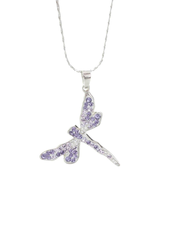 Náhrdelník Vážka s křišťálky Swarovski® Violet