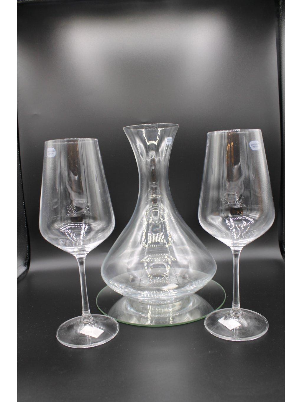 3639 karafa na vino bez dekoru set 2 1 1l
