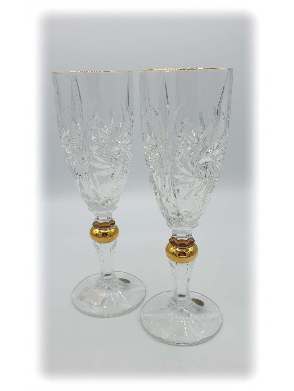 3771 kristalove sklenice sekt vetrnik 2ks