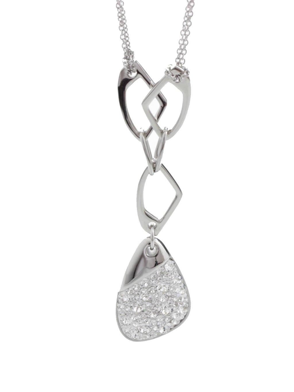 J61300474AB Ocelový náhrdelník Specific 3 s kameny Swarovski® Crystal AB