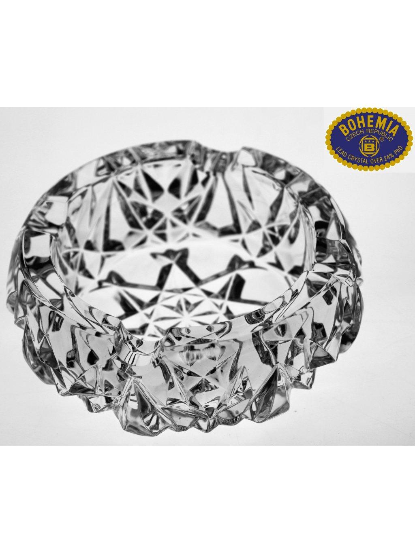 Skleněný popelník 15,5cm - křišťálové sklo Bohemia Crystal