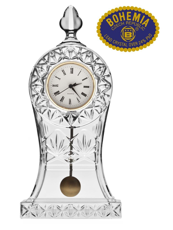 Skleněné hodiny kyvadlové 30,5cm - křišťálové sklo Bohemia Crystal