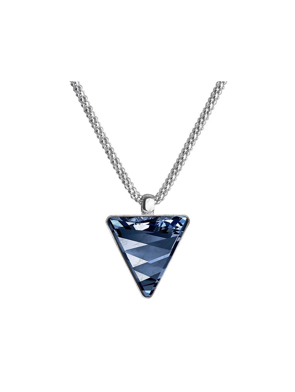 Náhrdelník Trojúhelník s kamenem Swarovski® Denim Blue