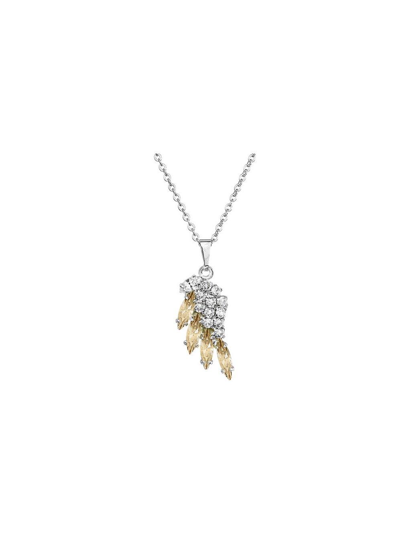Náhrdelník Křídlo mini s kameny Swarovski® Golden Shadow