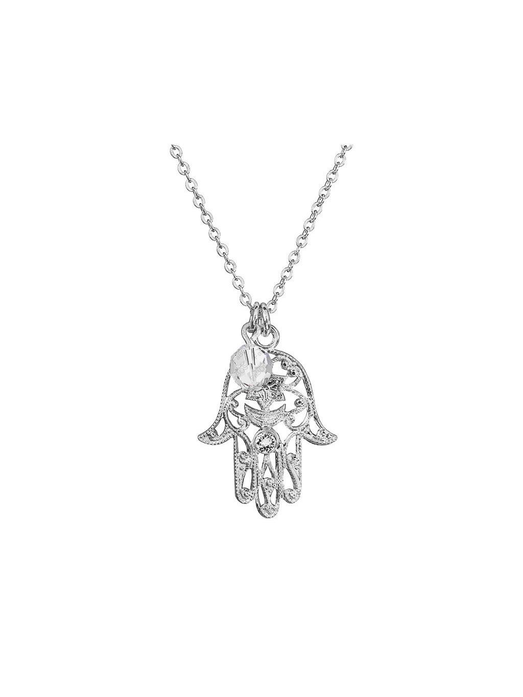 Náhrdelník Ruka Fatimy s korálkem Swarovski® Crystal
