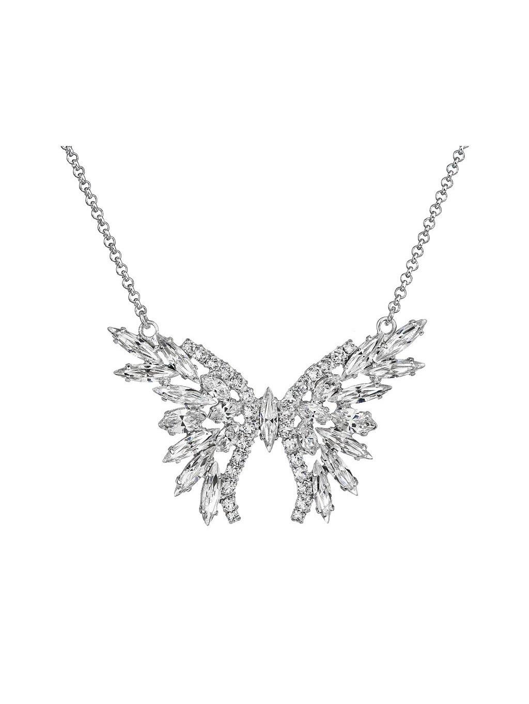 Náhrdelník Motýl štras s kameny Swarovski® Crystal