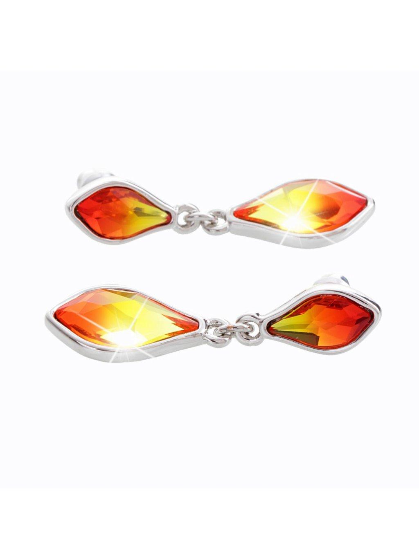 Náušnice Kapky ohně s kameny Swarovski® Fire Opal