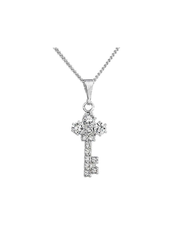 Náhrdelník Klíček s šatony Swarovski® Crystal