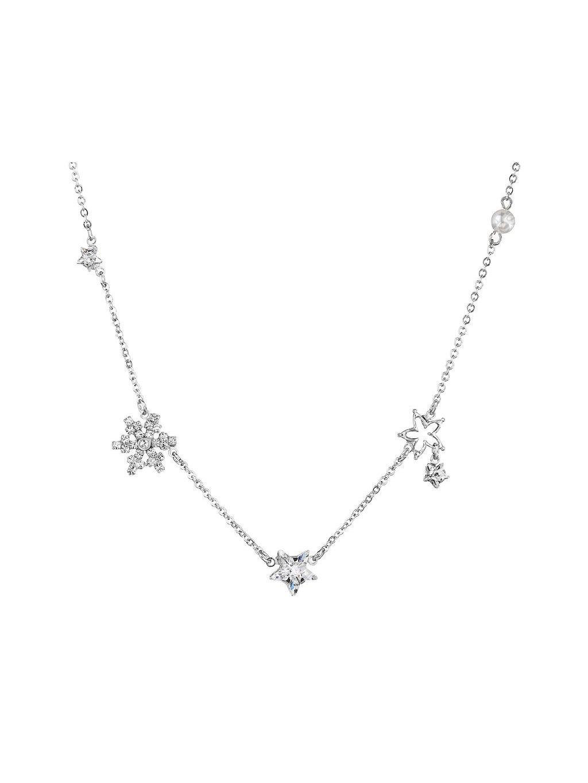 Náhrdelník Vločky a hvězdy s kameny Swarovski® Crystal