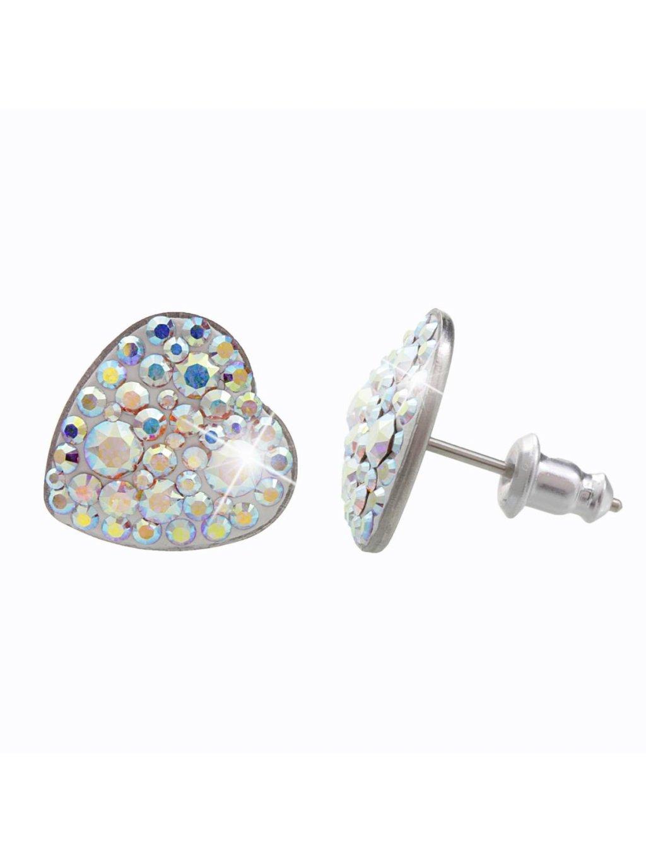 61400358ab (2)Ocelové náušnice Srdce s kameny Swarovski® Crystal AB