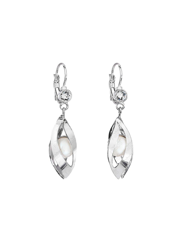 Náušnice Perla v listech Swarovski® Pearl