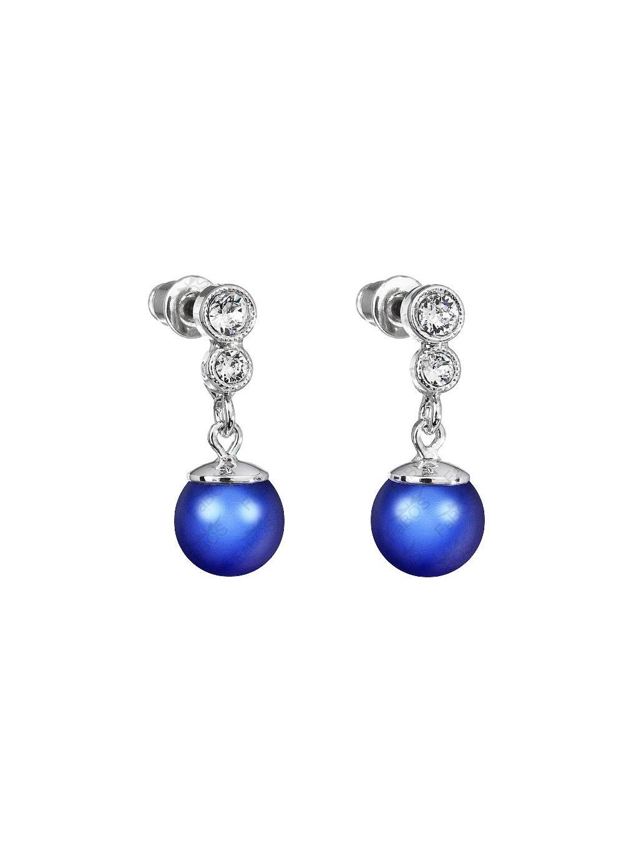 Náušnice s perlou a křišťálky Swarovski® Components