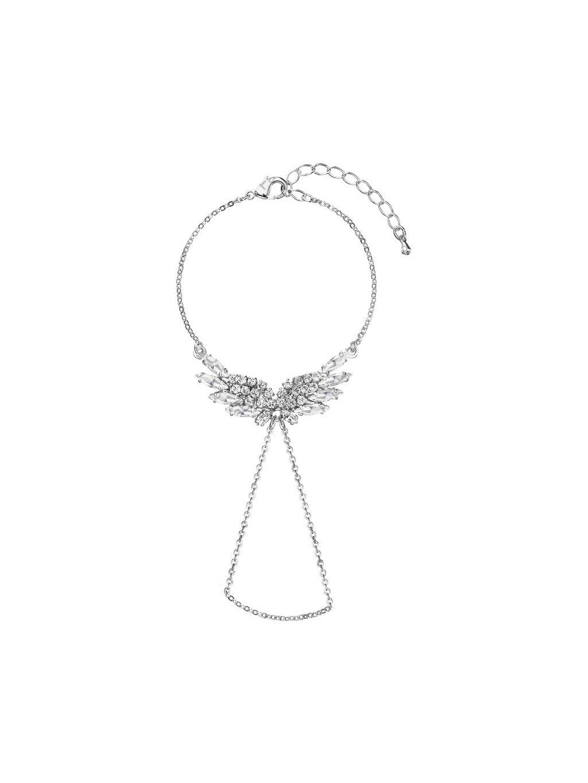 Náramek s andělskými křídly Swarovski® Crystal