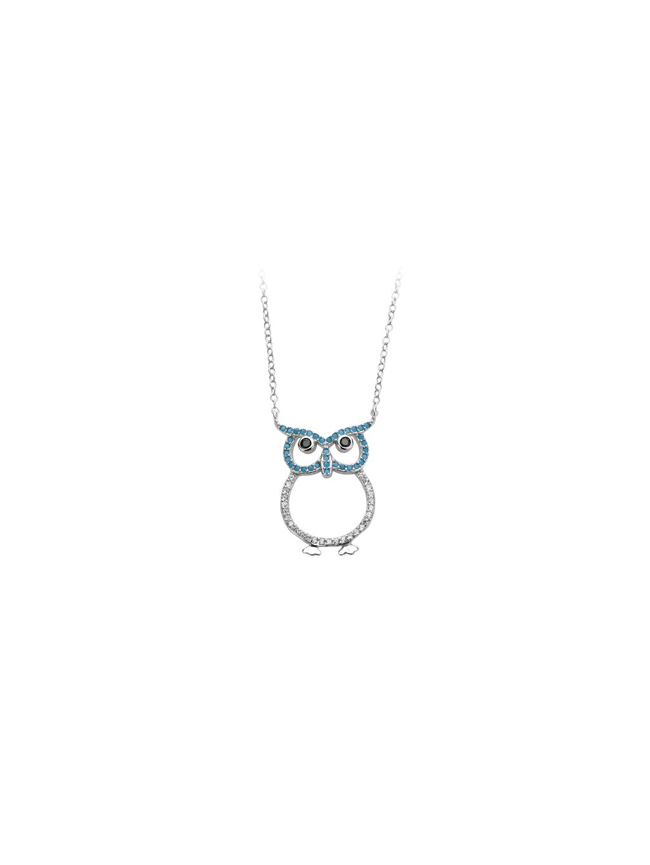 bf2Stříbrný náhrdelník sovička