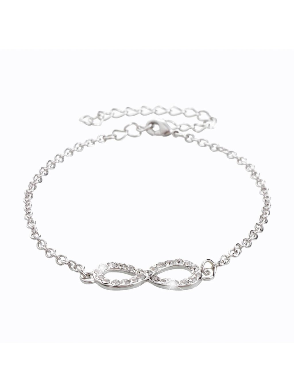 Náramek Nekonečno II s kameny Swarovski® Crystal
