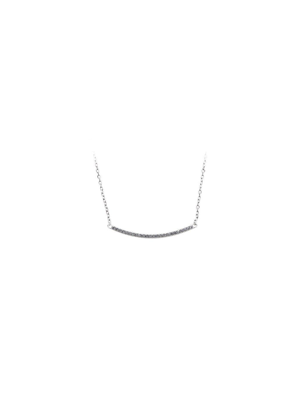 bf4Stříbrný náhrdelník oblouček s kamínky