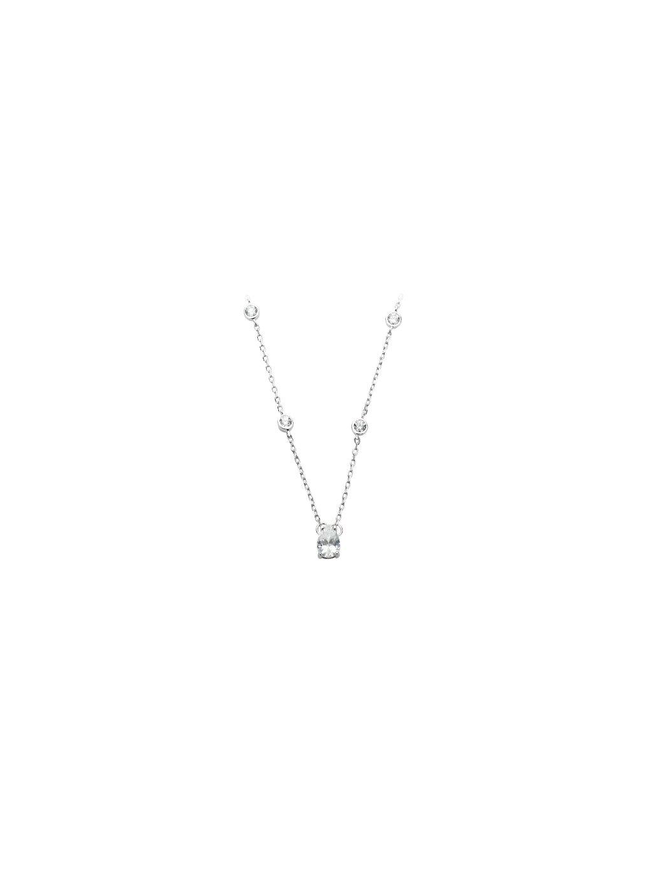 Stříbrný náhrdelník prokládaný kamínky Swarovski