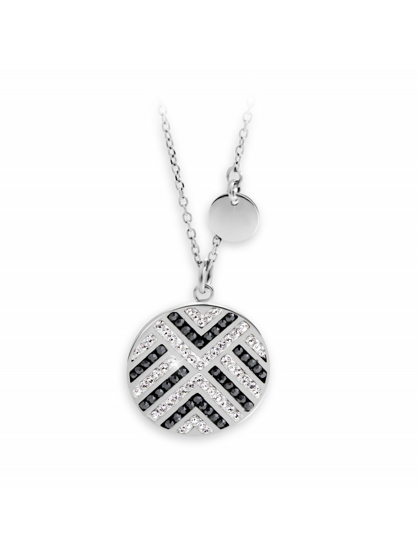 61300627crhOcelový náhrdelník wheel se Swarovski kameny