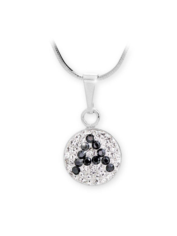 """92300315AStříbrný náhrdelník s písmenem """"A"""" z křišťálků Swarovski"""