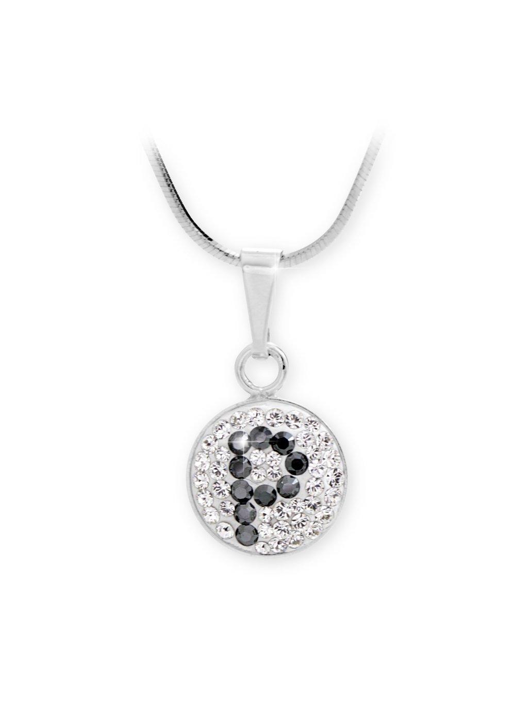 """92300315P Stříbrný náhrdelník s písmenem """"P"""" z křišťálků Swarovski"""