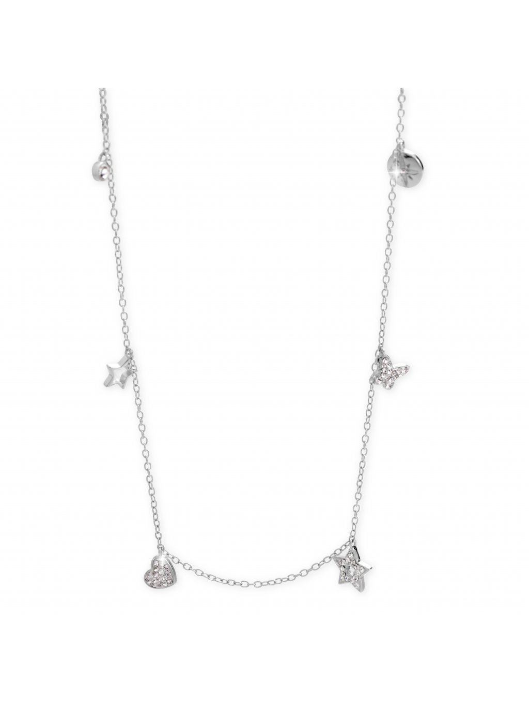 92300298cr Stříbrný náhrdelník se symboly ze křišťálků Swarovski