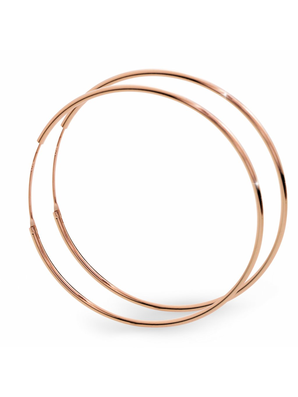 92400296rgStříbrné velké náušničky kruhy Rose gold