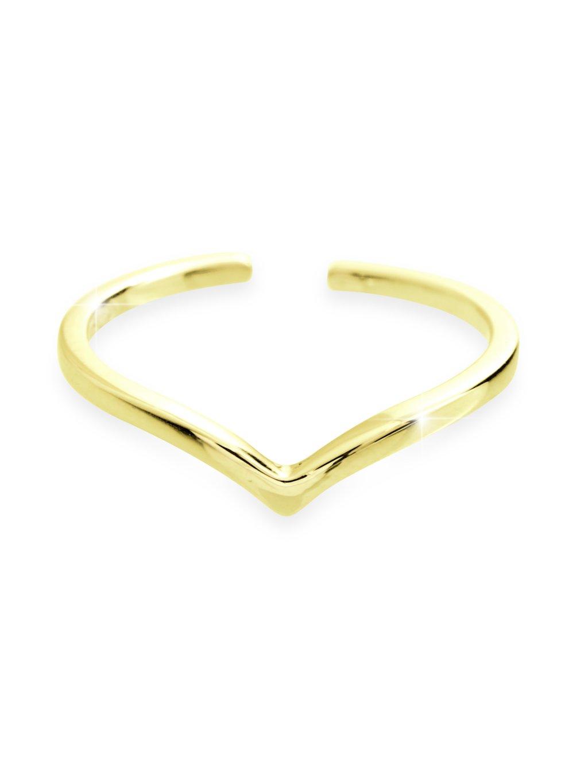 92700303g Stříbrný prsten špička gold