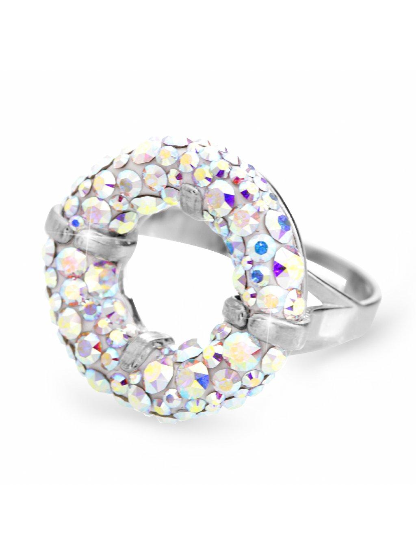 92700311abStříbrný prsten round s kameny Swarovski AB