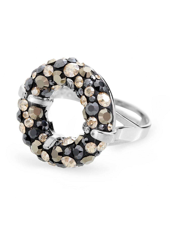 92700311topStříbrný prsten round s kameny Swarovski topaz