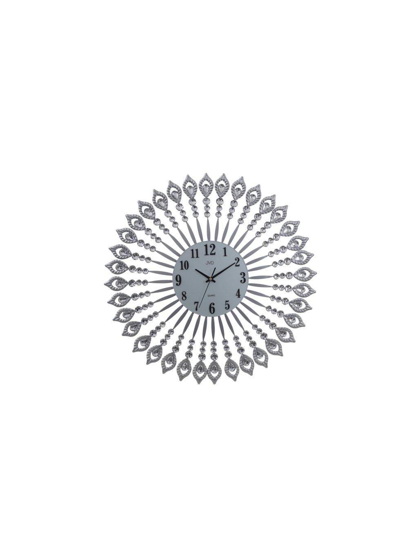 Nástěnné hodiny ve tvaru mandaly s číselným ciferníkem stříbrnéHodiny kvalitní pěkné moderní (2)