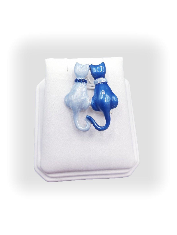 F7061-0041-05 Brož modré kočky