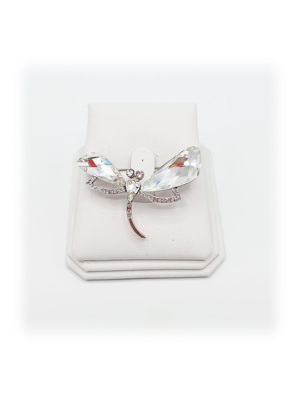 J11600729crBrož Vážka Swarovski® Crystal