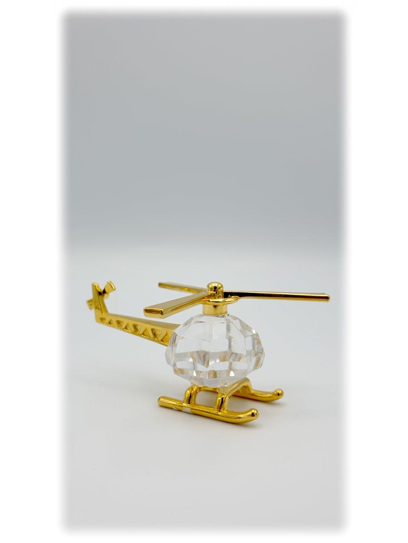 Broušený křišťálový vrtulník