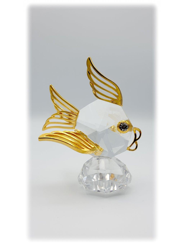 Křišťálová broušená ryba