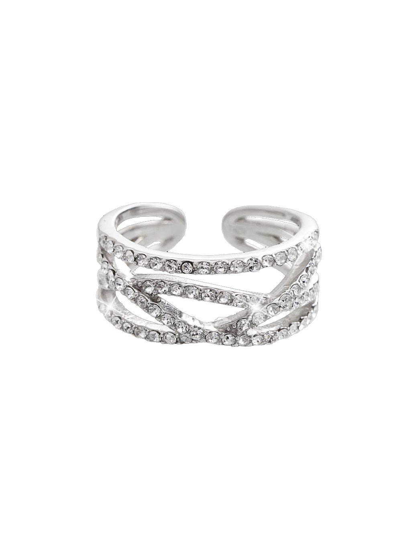 92700268cr Stříbrný prsten se Swarovski kameny
