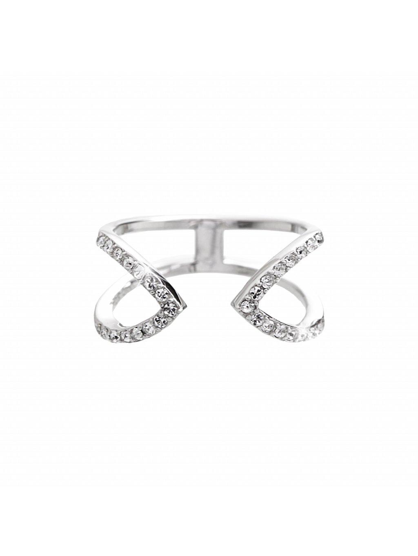 92700267crStříbrný prsten špičky swarovski