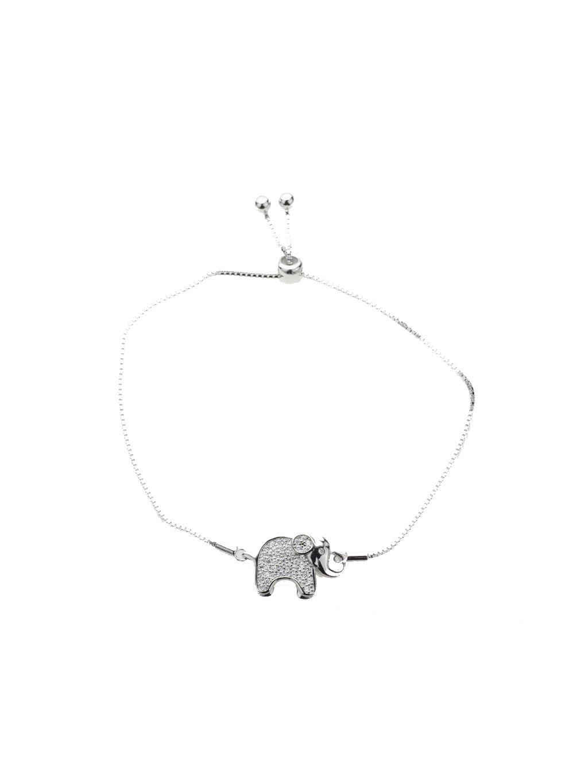 BF40 Stříbrný náramek sloník se zirkony