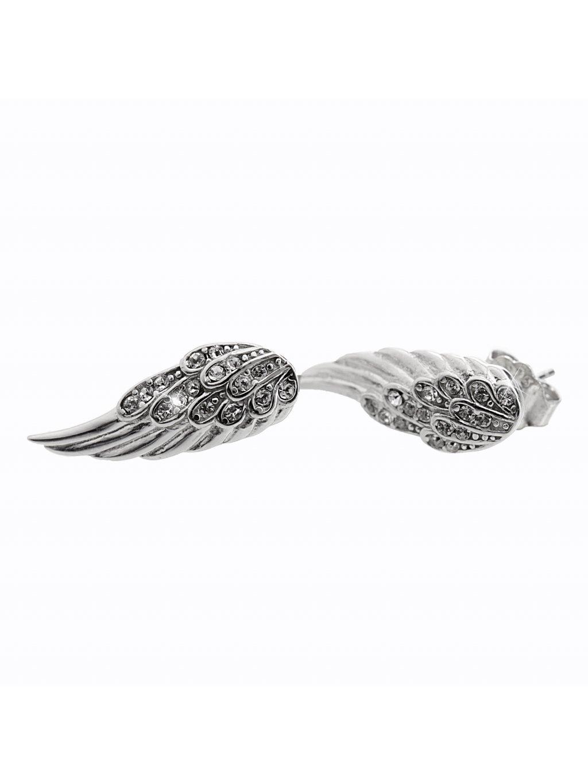 92400333crStříbrné náušnice andělská křídla