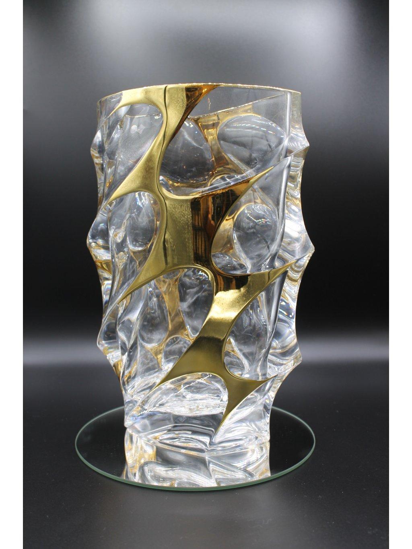 3738 kristalova vaza calypso s pozlacenim
