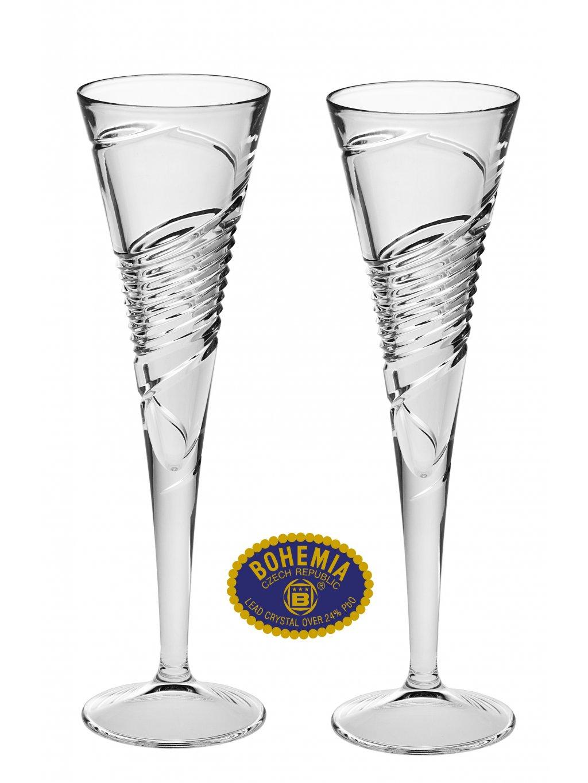 Křišťálové sklenice na sekt 160ml  Bohemia Crystal, 2ks