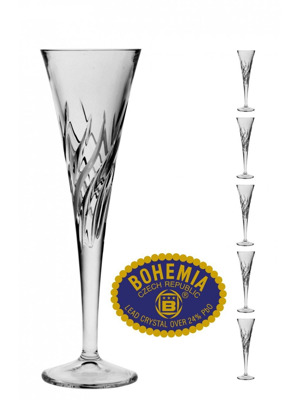 Křišťálové sklenice na sekt 160ml  Bohemia Crystal, 6ks