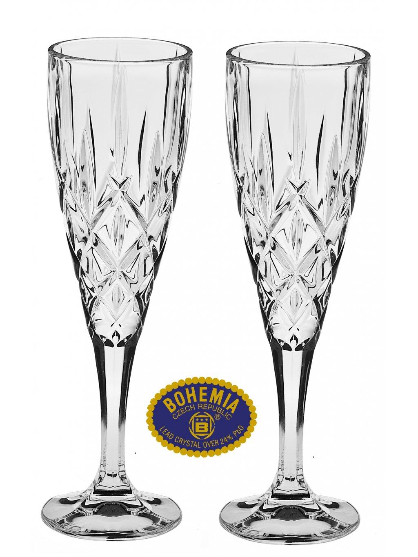 Křišťálové sklenice na sekt 180ml  Bohemia Crystal, 2ks